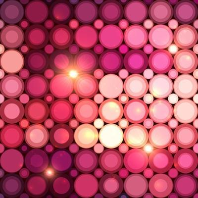 Pink Disco Circles Abstract Background by art_of_sun