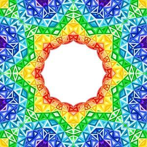 Rainbow Kaleidoscope Colorful Background by art_of_sun
