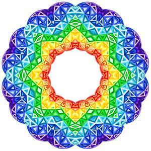Rainbow Kaleidoscope Vibrant Circle by art_of_sun