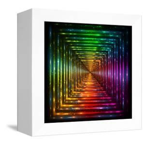 Shining Lights Rainbow Colors Frame by art_of_sun