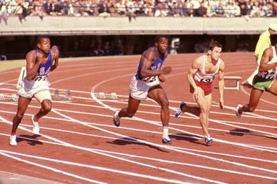American Bob Hayes (Center) at Tokyo 1964 Summer Olympics, Japan by Art Rickerby