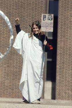 Diane Schollander Protesting Pro Abortion at University of Pennsylvania Campus, 1970 by Art Rickerby