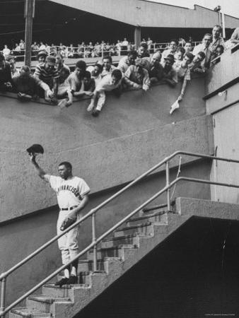 Fans Welcoming Giants Star Willie Mays at Polo Grounds by Art Rickerby