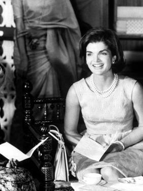 Mrs. John F. Kennedy During Her Tour of India by Art Rickerby