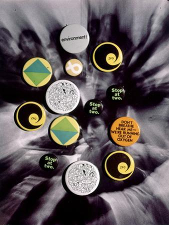 Population Control Buttons from the Zero Population Growth Movement at Ithaca College, NY, 1970 by Art Rickerby