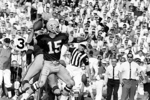 Quarterback Bart Starr of Green Bay Packers at Super Bowl I, Los Angeles, CA, January 15, 1967 by Art Rickerby