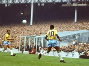 Soccer Star Pele in Action During World Cup Competition by Art Rickerby