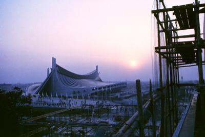 Sunrise at the Yoyogi National Gymnasium, 1964 Tokyo Summer Olympics, Japan by Art Rickerby