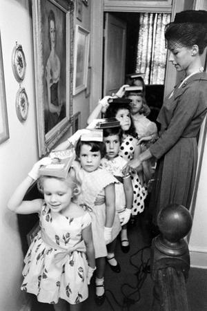 Young Children in Mrs. Young Class for Ladies at Moppets Charm School. Washington DC 1962 by Art Rickerby