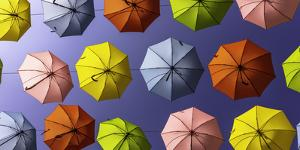 Israel Umbrellas by Art Wolfe