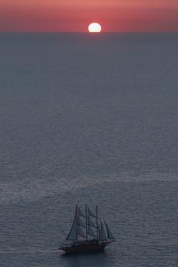 Sunset in Santorini Greece 2 by Art Wolfe