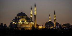 Turkey Mosque at Night by Art Wolfe