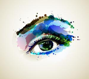Beautiful Fashion Woman Eye Forming By Blots by artant