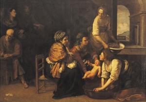 Birth of St John the Baptist, 1633-1635 by Artemisia Gentileschi