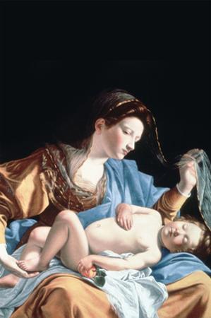 Madonna with Sleeping Christ Child by Artemisia Gentileschi