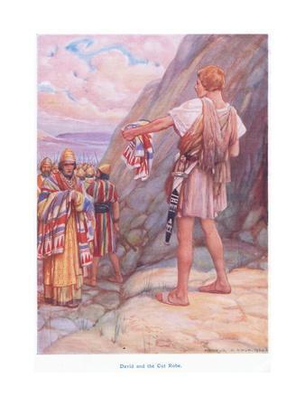 David and the Cut Robe