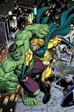Hulk No.8 Cover: Hulk, Sentry and Ms. Marvel by Arthur Adams