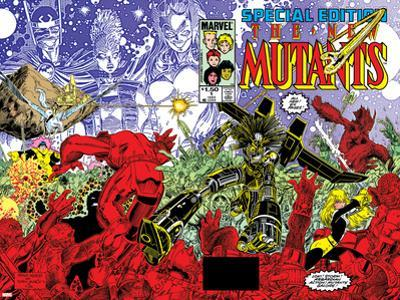 New Mutants Special Edition No.1 Cover: Warlock, Wolfsbane, Magik and New Mutants