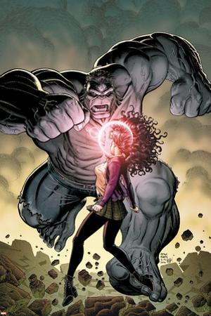Ultimate X No.5 Cover: Jean Grey and Hulk Fighting
