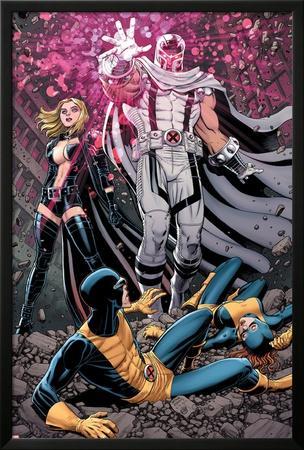 Uncanny X-Men #12 Cover: Magneto, Frost, Emma, Cyclops, Grey, Jean