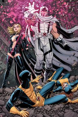 Uncanny X-Men #12 Cover: Magneto, Frost, Emma, Cyclops, Grey, Jean by Arthur Adams