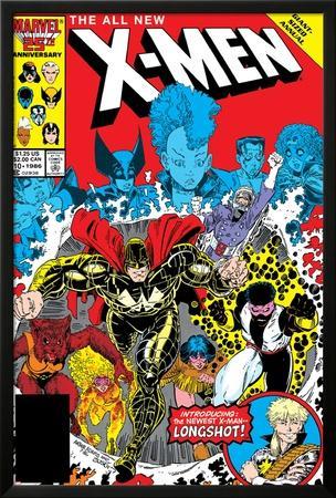 X-Men Annual No.10 Cover: Warlock, Sunspot, Wolfsbane and New Mutants