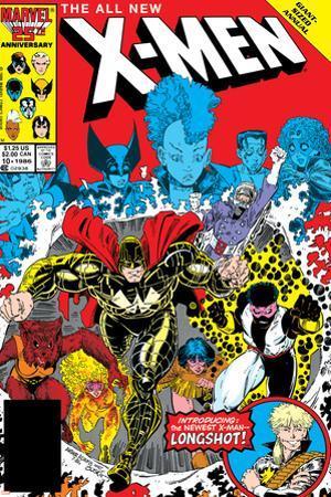 X-Men Annual No.10 Cover: Warlock, Sunspot, Wolfsbane and New Mutants by Arthur Adams