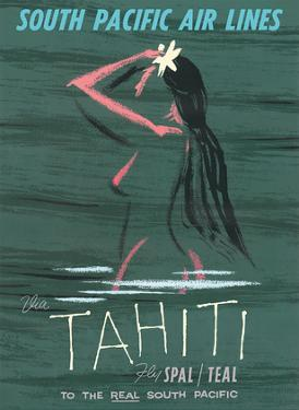Tahiti - Fly South Pacific Air Lines (SPAL) by Arthur Alfred Thompson