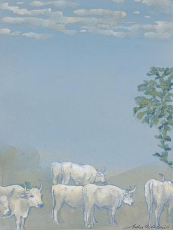 Landscape with Cows by Arthur Bowen Davies