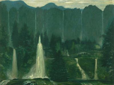 Many Waters (Waterfalls) by Arthur Bowen Davies