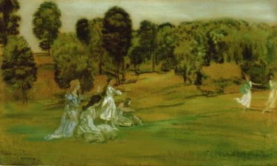 The Hours and the Freedom of the Fields by Arthur Bowen Davies