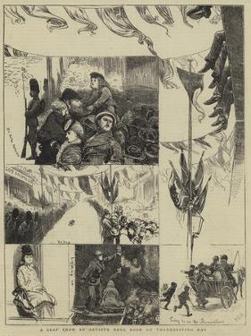 A Leaf from an Artist's Note Book on Thanksgiving Day by Arthur Boyd Houghton