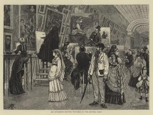Art Students Copying Pictures at the Louvre, Paris by Arthur Boyd Houghton