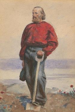 Garibaldi on Caprera, 1860 by Arthur Boyd Houghton