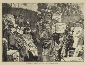 Graphic America, the Embarkation by Arthur Boyd Houghton