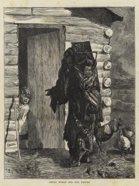 Indian Woman and Sick Papoose by Arthur Boyd Houghton
