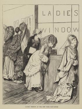 Ladies' Window at the New York Post-Office by Arthur Boyd Houghton