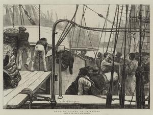 Landing Cotton at Liverpool by Arthur Boyd Houghton