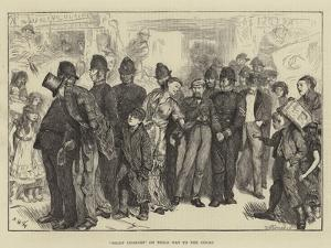 Night Charges on their Way to the Court by Arthur Boyd Houghton