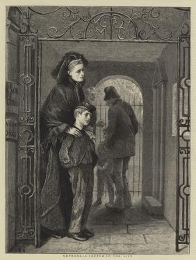 Orphans, a Sketch in the City by Arthur Boyd Houghton