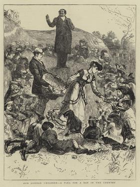 Our London Children, a Plea for a Day in the Country by Arthur Boyd Houghton
