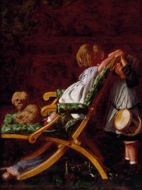 Playmates, 1866 by Arthur Boyd Houghton
