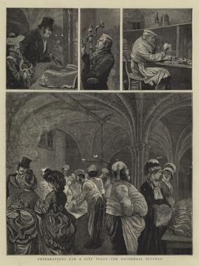 Preparations for a City Feast, the Guildhall Kitchen by Arthur Boyd Houghton