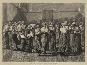 Shakers at Meeting, the Religious Dance by Arthur Boyd Houghton