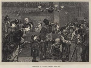 Sketches in London, before the Bar by Arthur Boyd Houghton