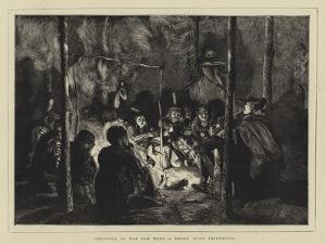 Sketches in the Far West, a Smoke with Friendlies by Arthur Boyd Houghton