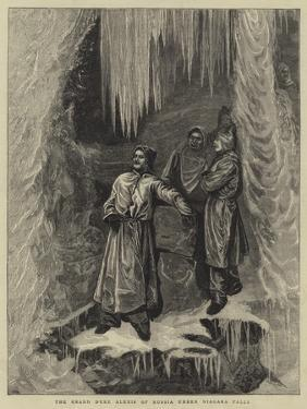 The Grand Duke Alexis of Russia under Niagara Falls by Arthur Boyd Houghton