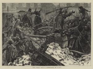 The Paris Mob, a Barricade in Paris by Arthur Boyd Houghton
