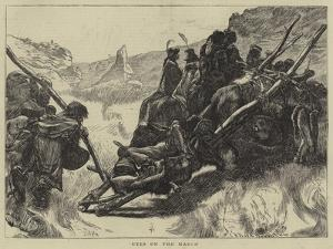 Utes on the March by Arthur Boyd Houghton