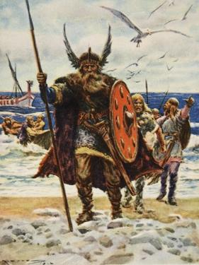 The Landing of the Vikings by Arthur C. Michael